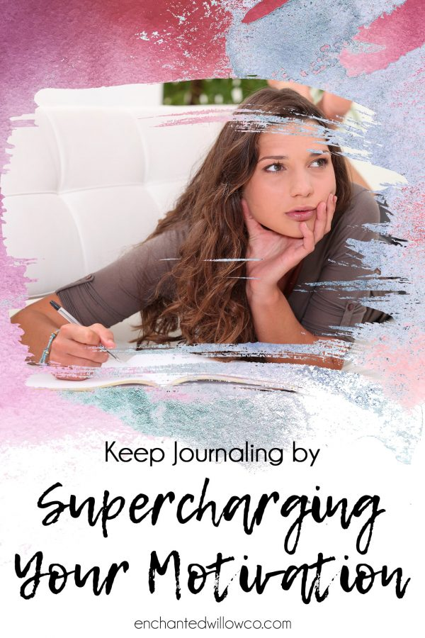 woman journaling motivation