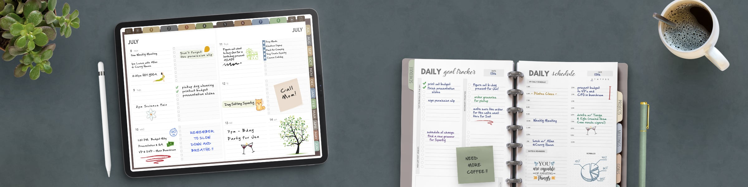 enchanted willow digital planners & printables