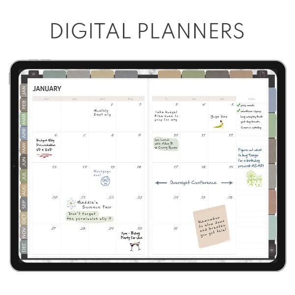 goodnotes digital planner notability ipad planner